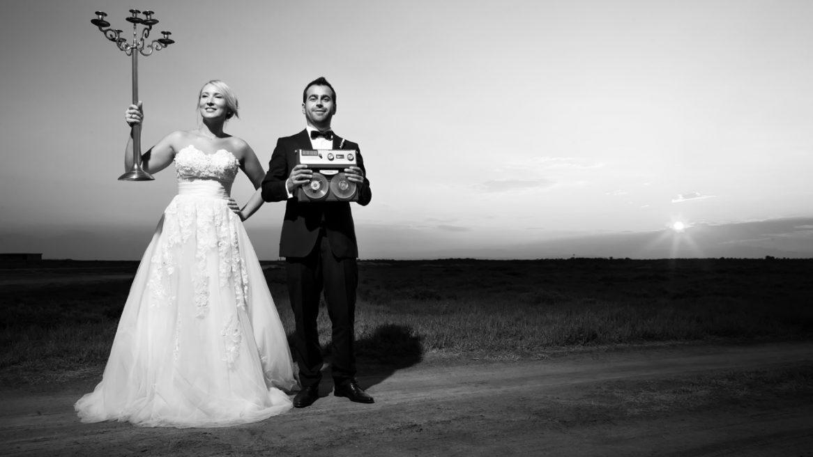 φωτογραφία γάμου από την εξωτερική φωτογράφιση